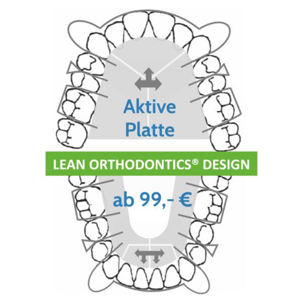 Aktive Platte Lean Orthodontics Design Herausnehmbare Platten Myortholab