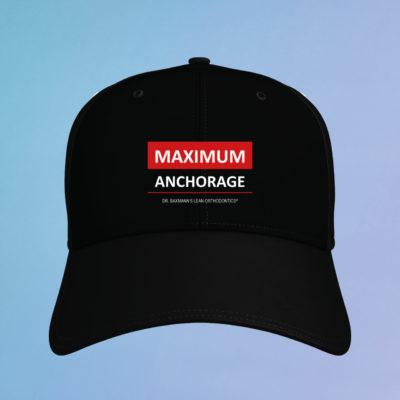 Kappe Cap Maximum Anchorage Schwarz