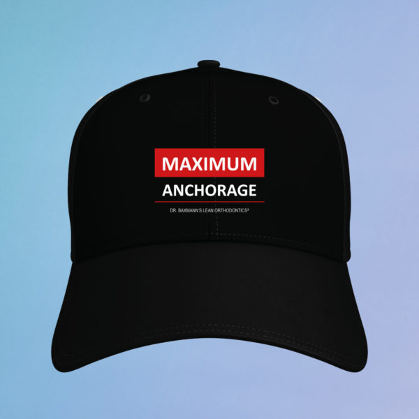 Kappe Cap Maximum Anchorage Schwarz