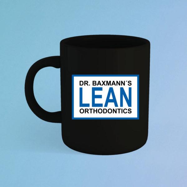 Lean Orthodontics Tasse Schwarz Fanartikel