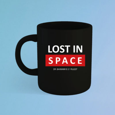 Lost In Space Tasse Schwarz