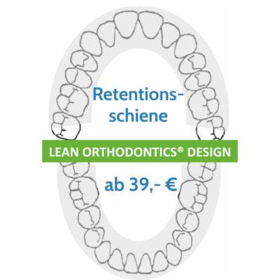 Retentionsschiene Herausnehmbare Schienen Lean Orthodontics Myortholab