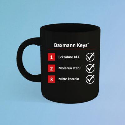 Tasse Baxmann Keys Schwarz