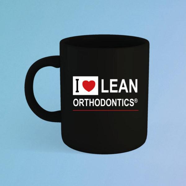 Tasse Love Lean Orthodontics Schwarz
