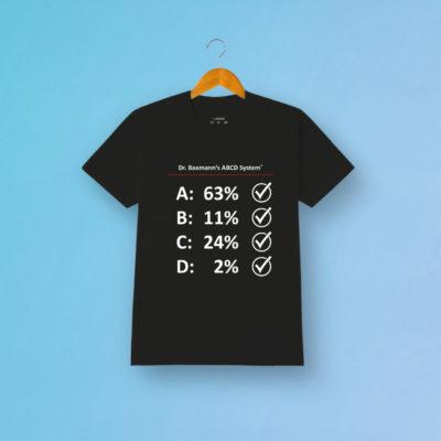 Tshirt Abcd System Schwarz