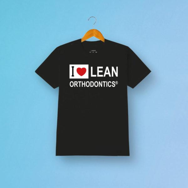 Tshirt Love Lean Orthodontics Schwarz