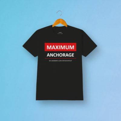 Tshirt Maximum Anchorage Schwarz