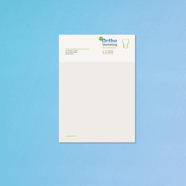 Zahnarzt Briefpapier Drucken Kieferorthopaede Marketing